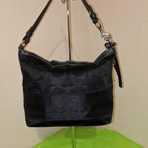 Coach Bags - Coach Lurex Sig C Satchel Tote Handle Bag EUC